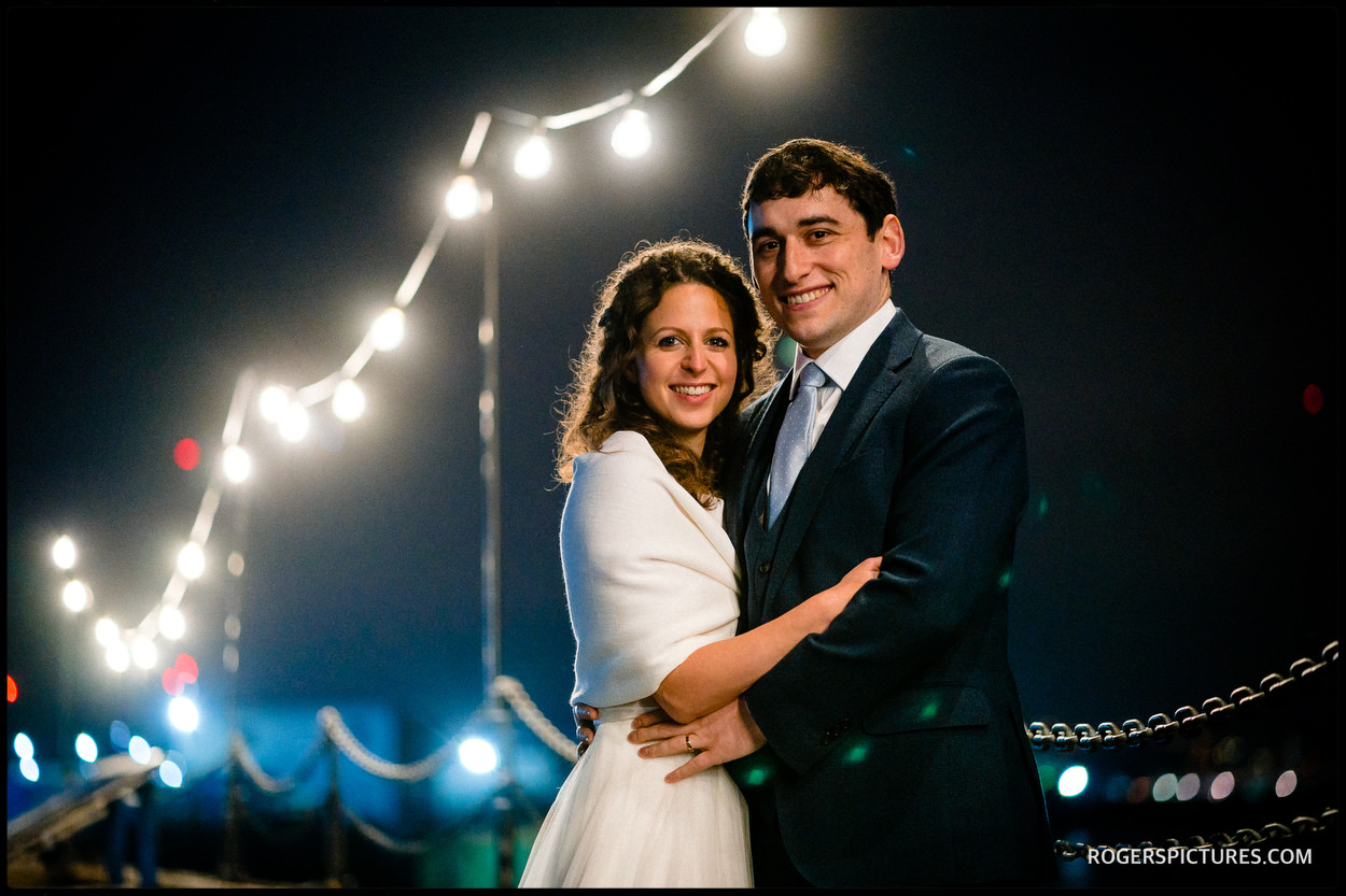 Trinity Buopy Wharf wedding portrait