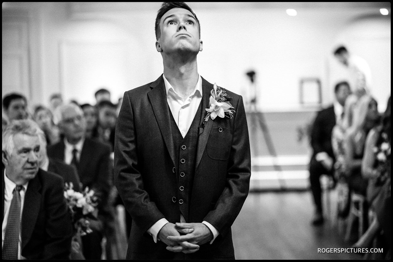 Nervous groom in the Ballroom