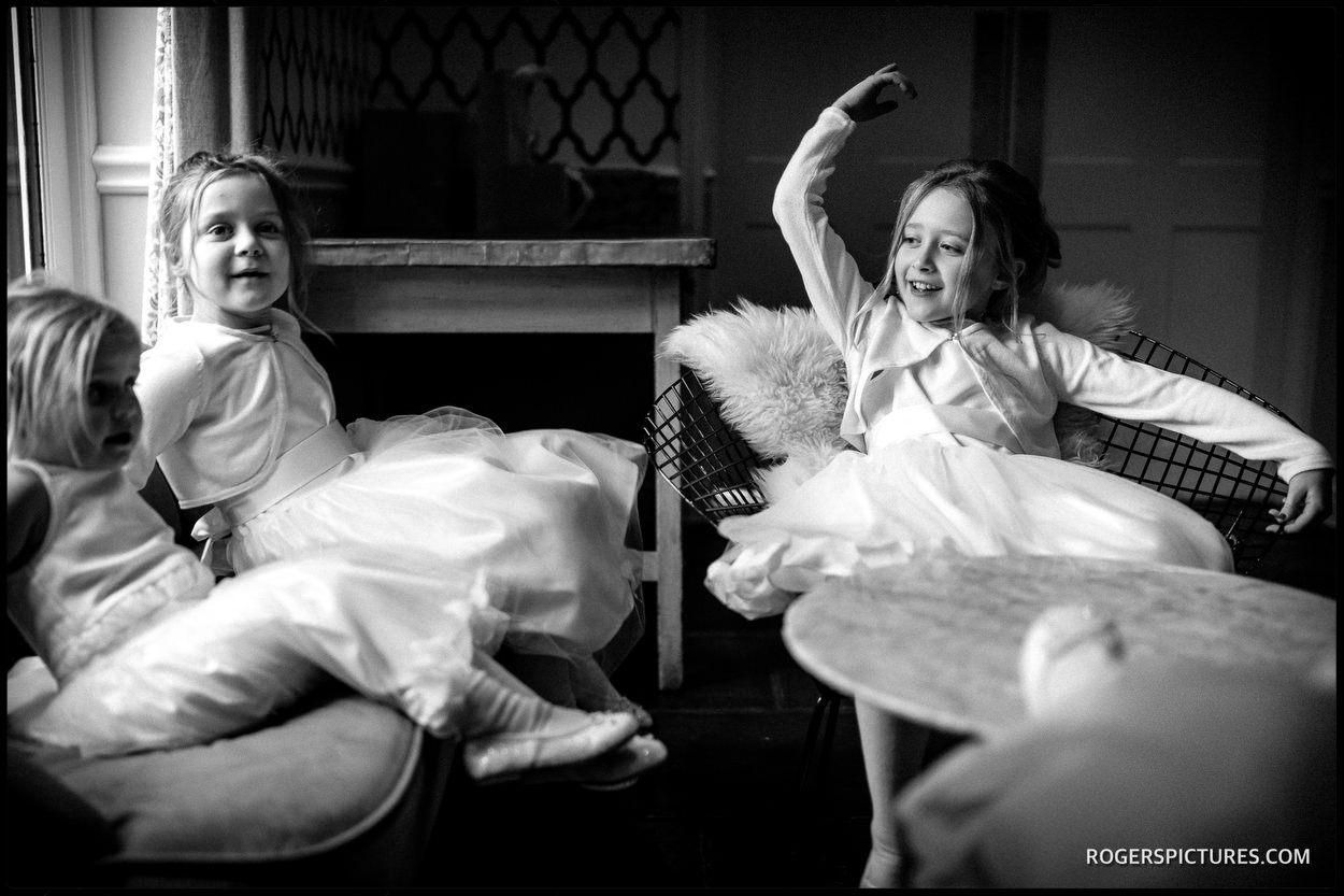 Millbridge Court Hotel wedding bridesmaids in black and white