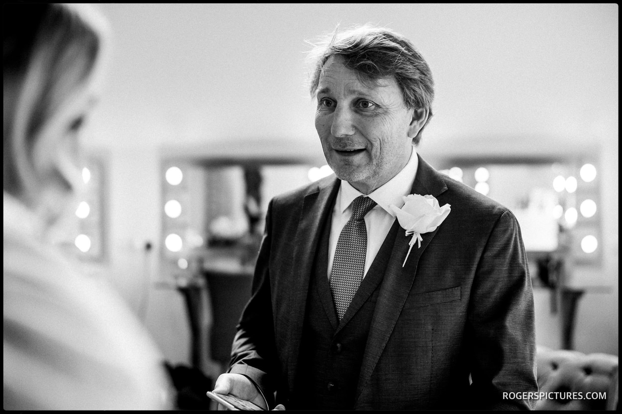 Father of the Bride at Millbridge Court Hotel wedding