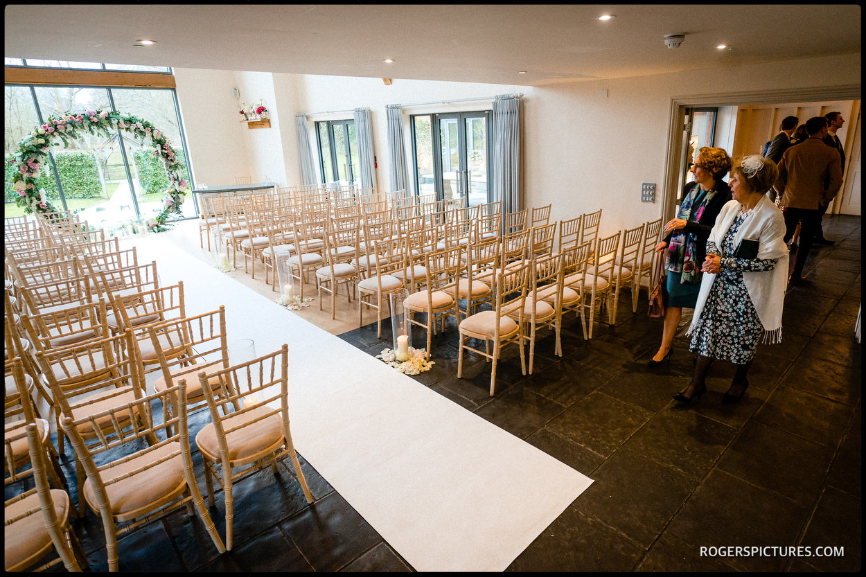 Millbridge Court Hotel wedding ceremony
