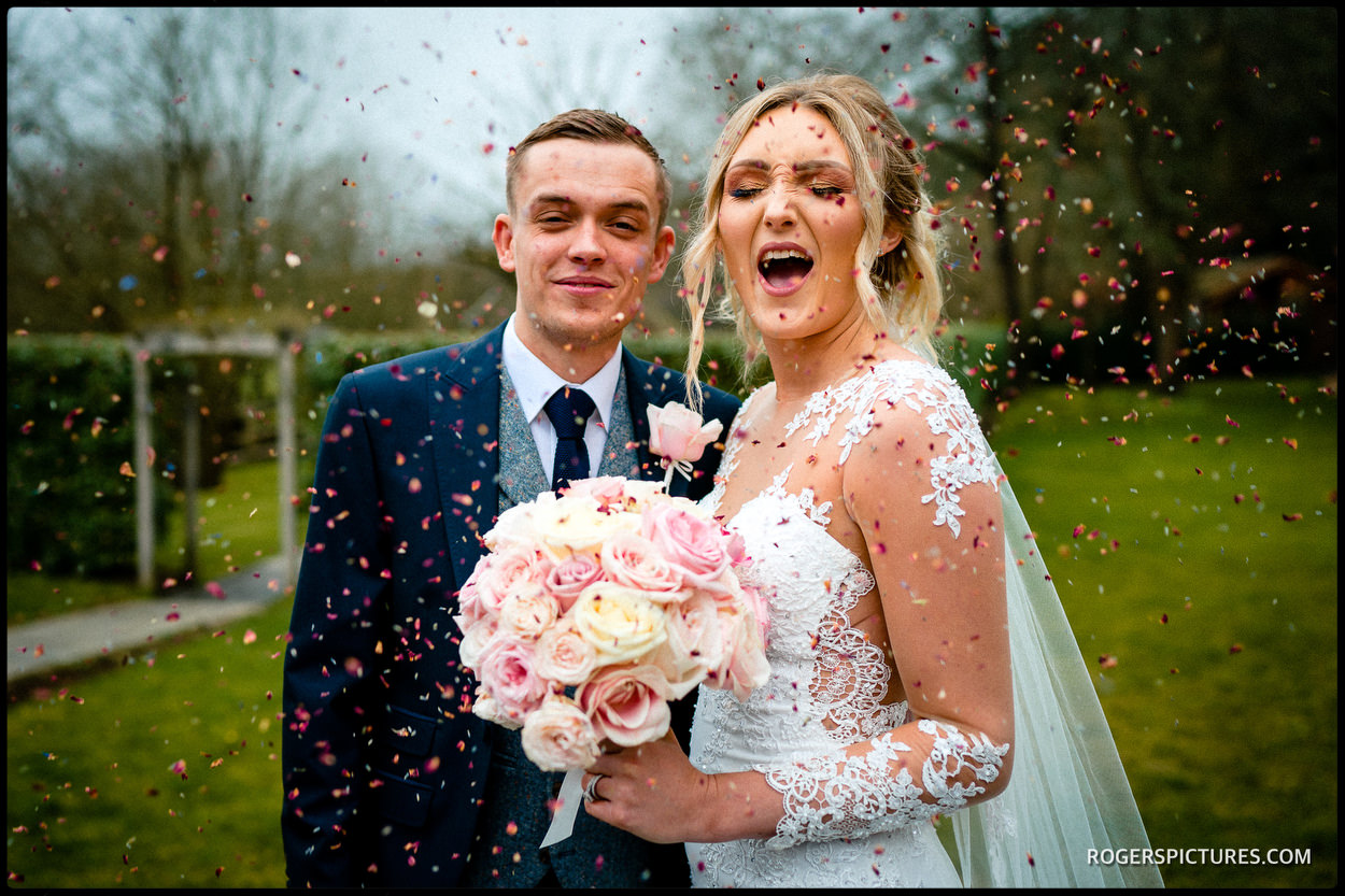 Confetti at Millbridge Court Hotel