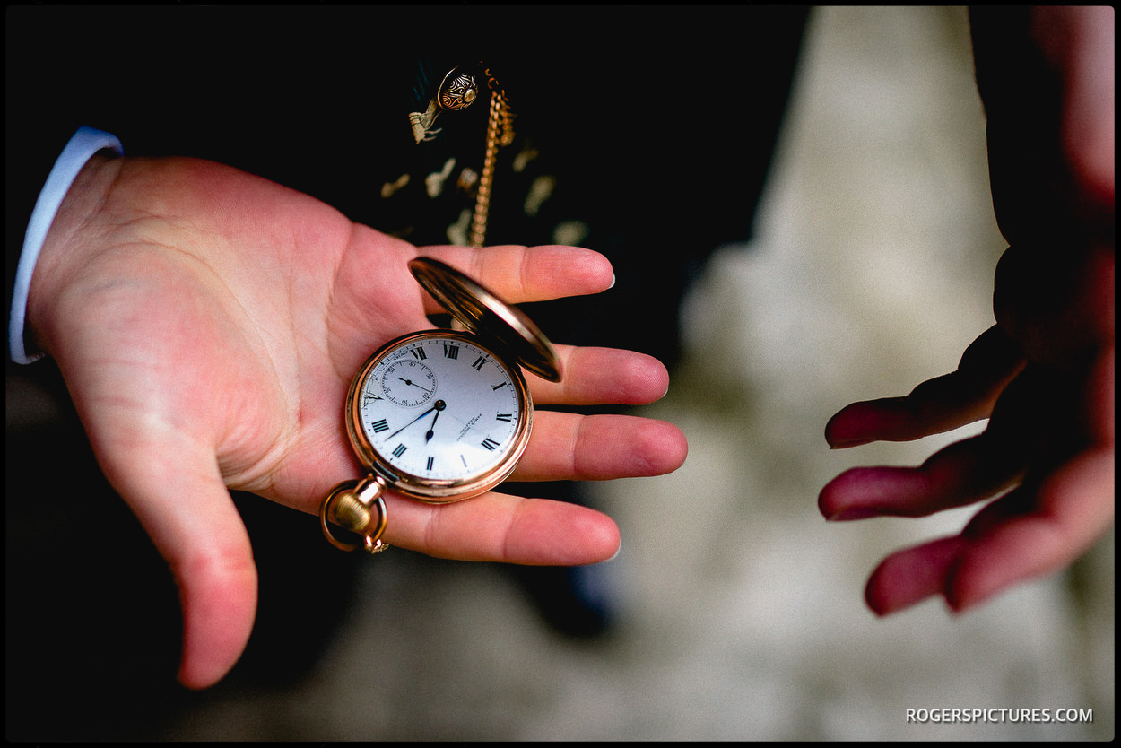 Groom with a pocketwatch