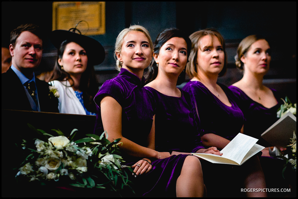 London wedding in a church