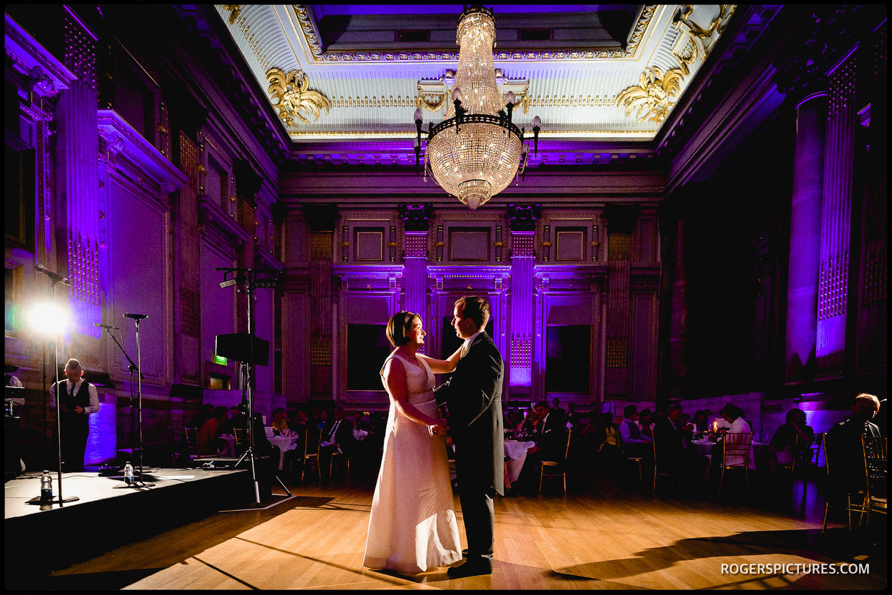 First Dance at One Great George Street wedding