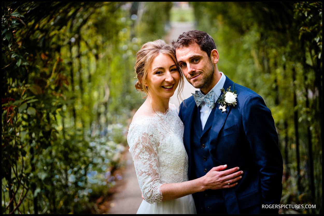 Couple portrait at Nonsuch Mansion in Surrey