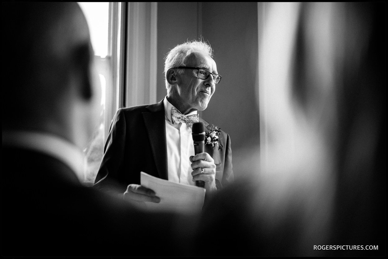Father of the Bride speech at Nonsuch Mansion