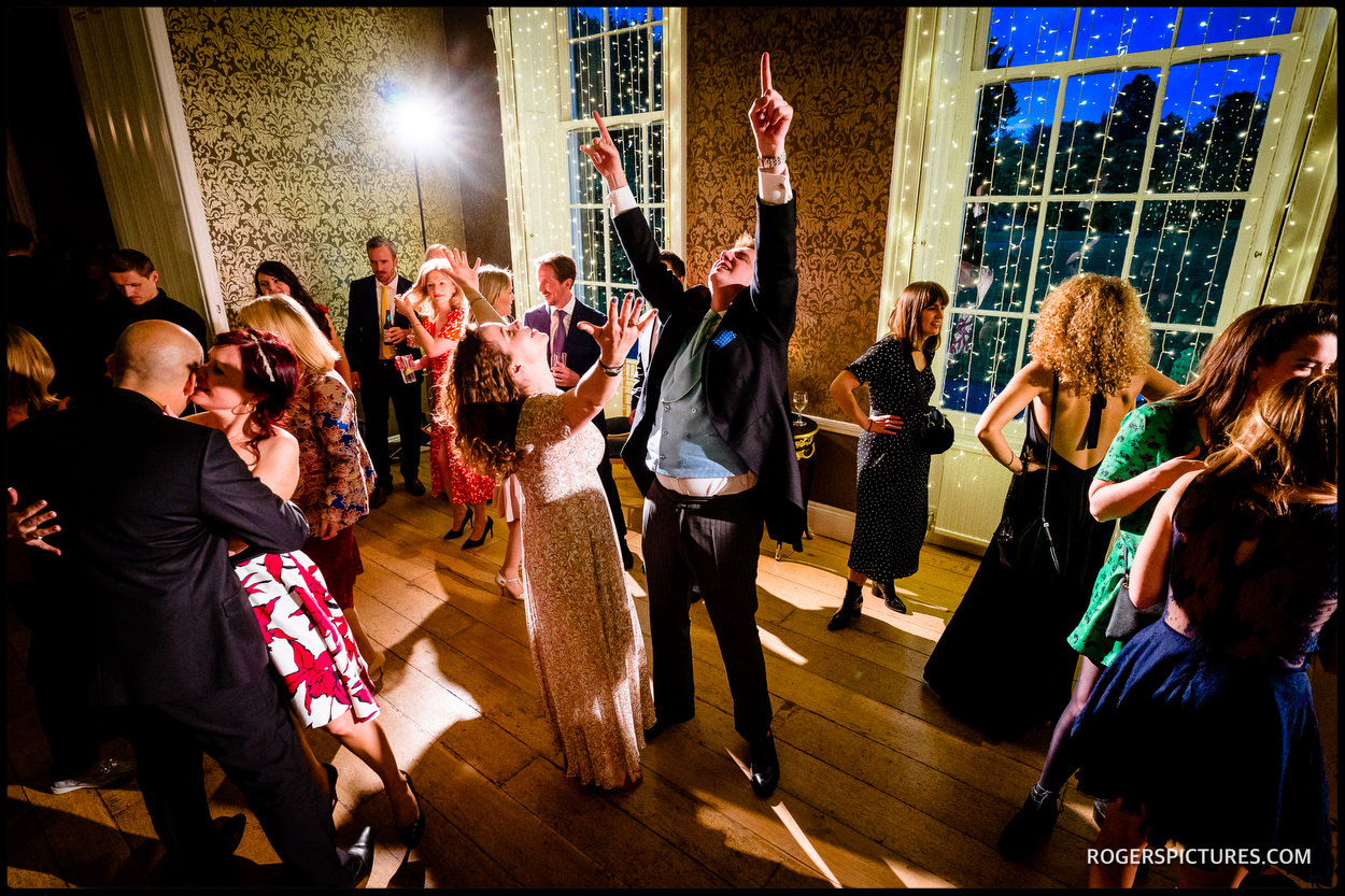 Evening dancing at Surrey wedding