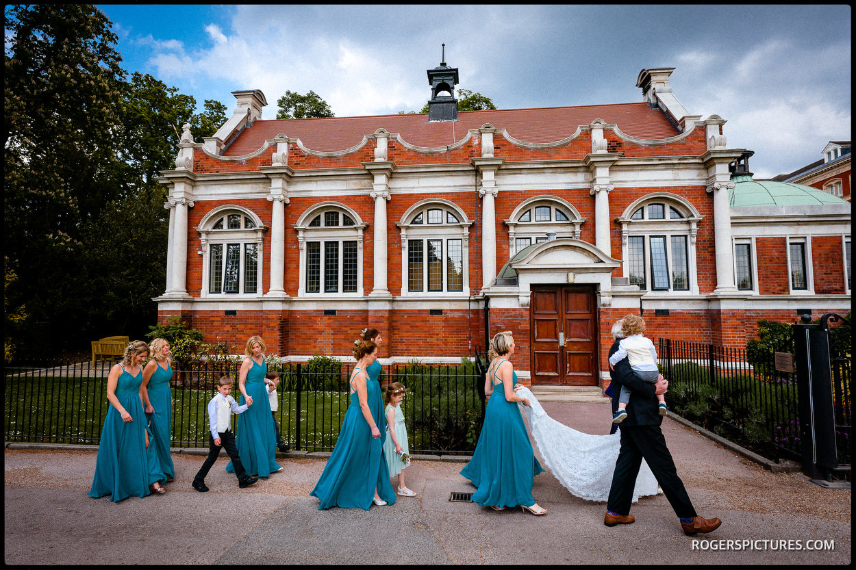 The Old Library wedding party at Dulwich College in London