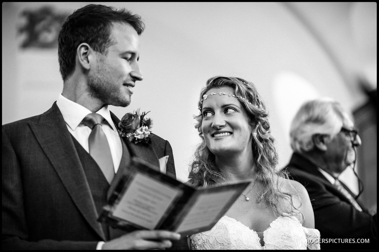 Dulwich college wedding photo during the ceremony