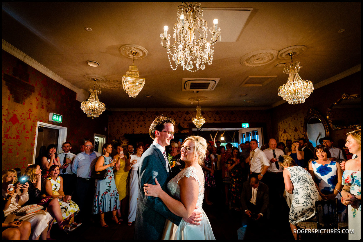 First dance at a Summer wedding at The Bell in Ticehurst