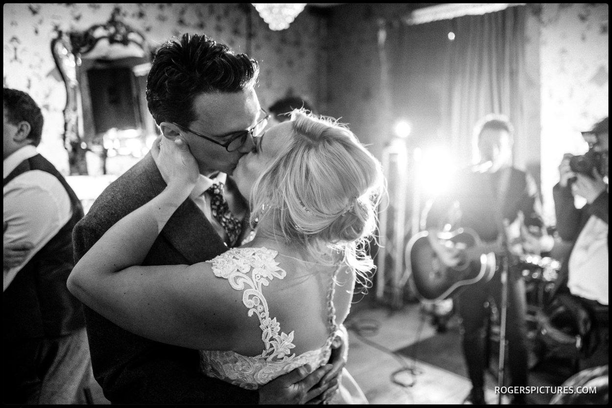 First dance kiss in a pub