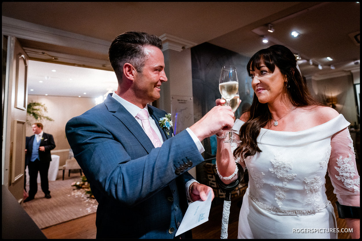 Newly married couple at The Vineyard Hotel