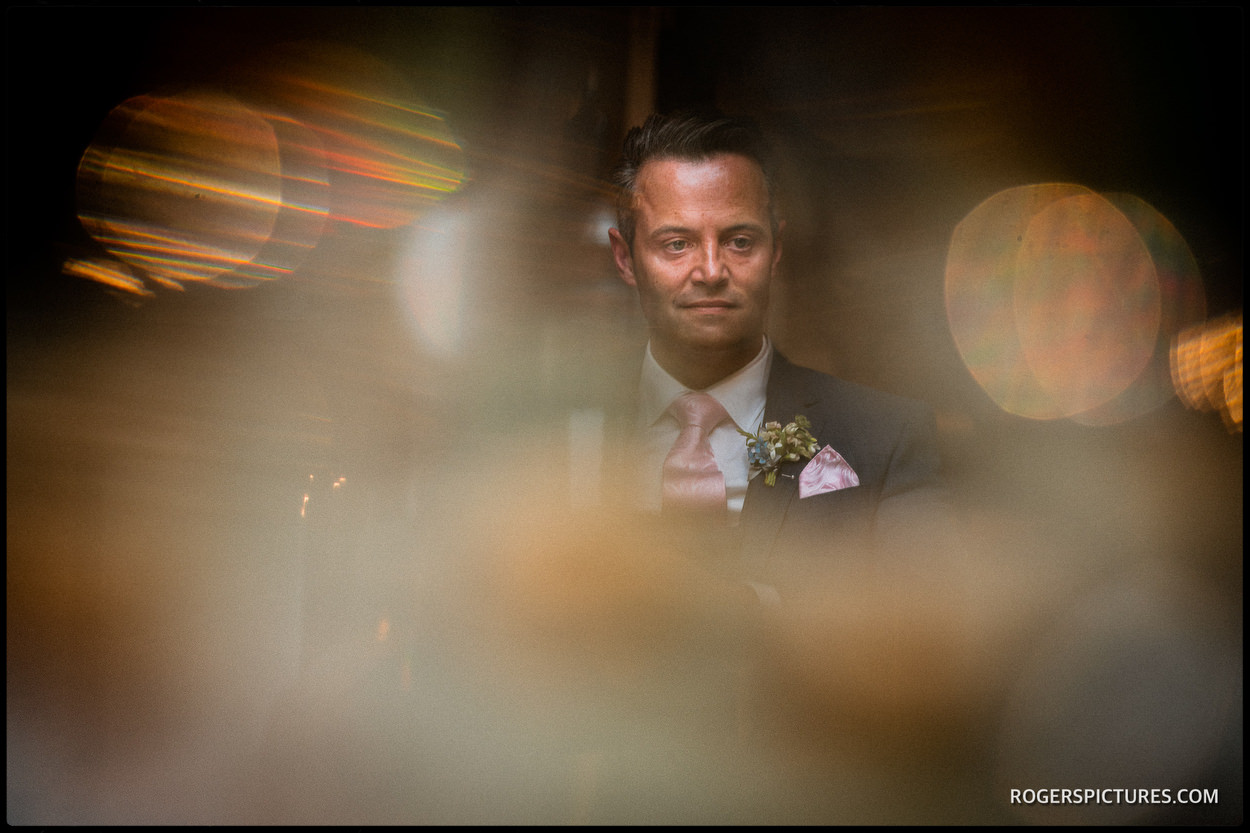 Groom portrait at The Vineyard Hotel