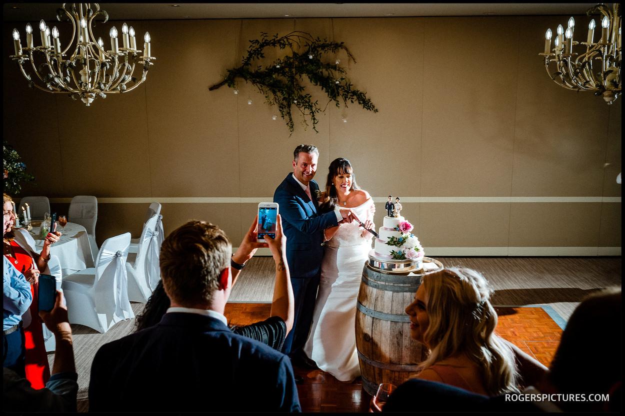 First dance photo at Berkshire wedding