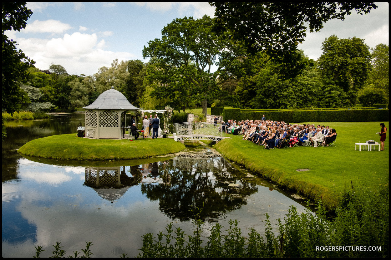 Lakeside wedding at Longstowe Hall