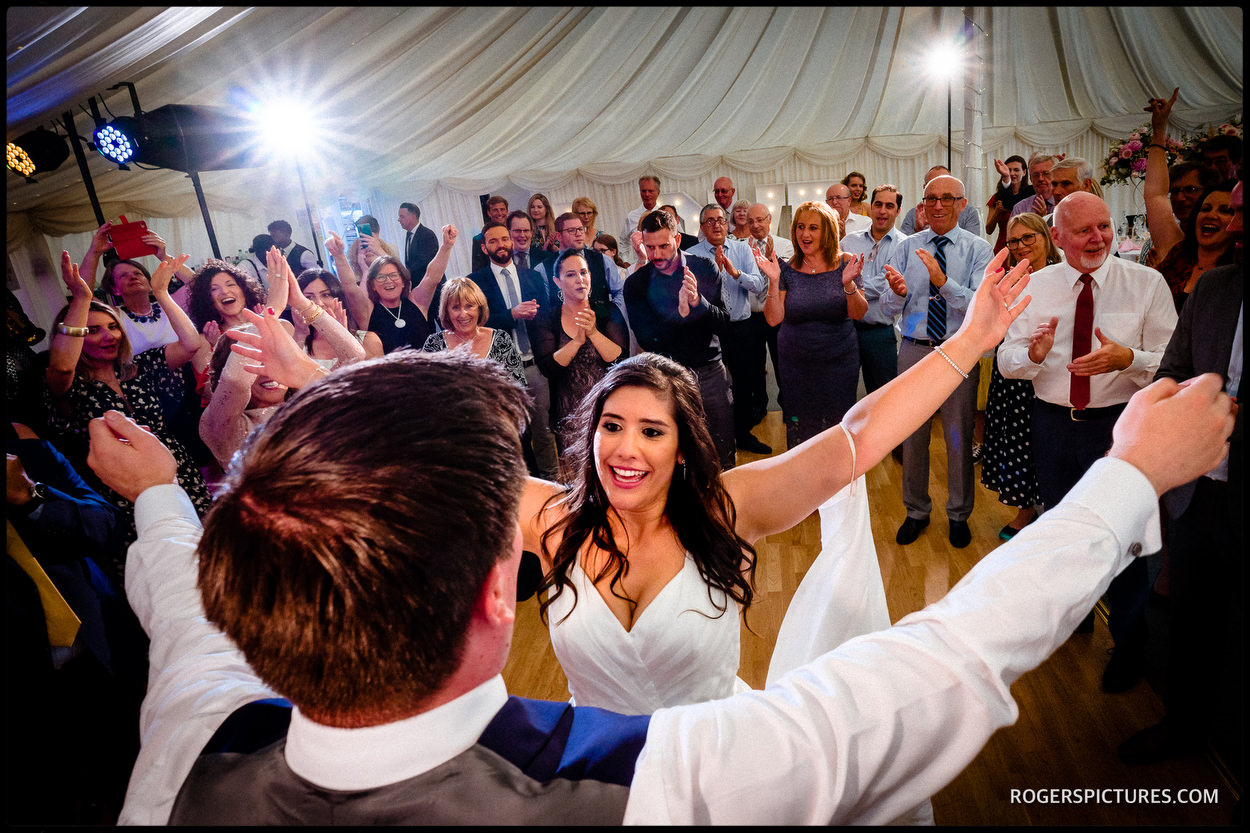 Longstowe Hall dancing in the marquee