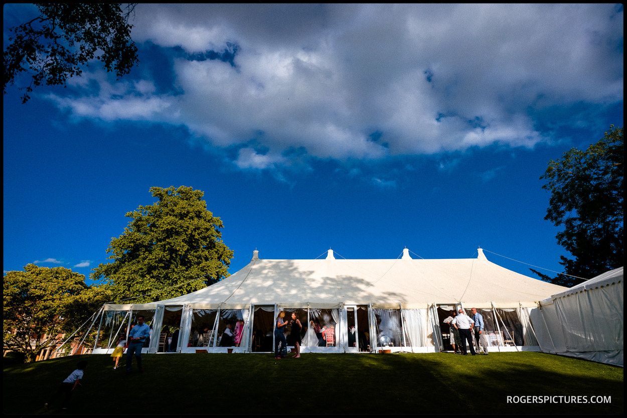 Longstowe Hall marquee wedding