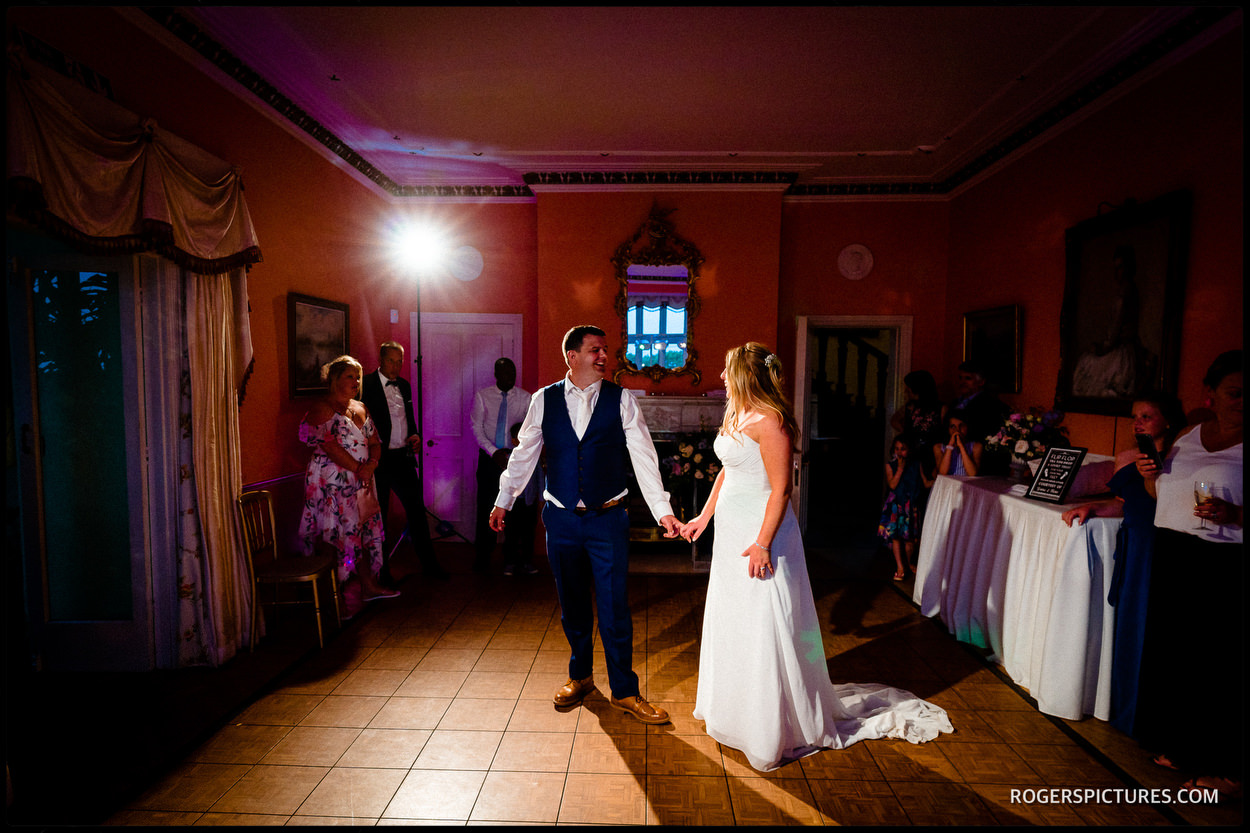 First Dance at Wadhurst Castle in Sussex