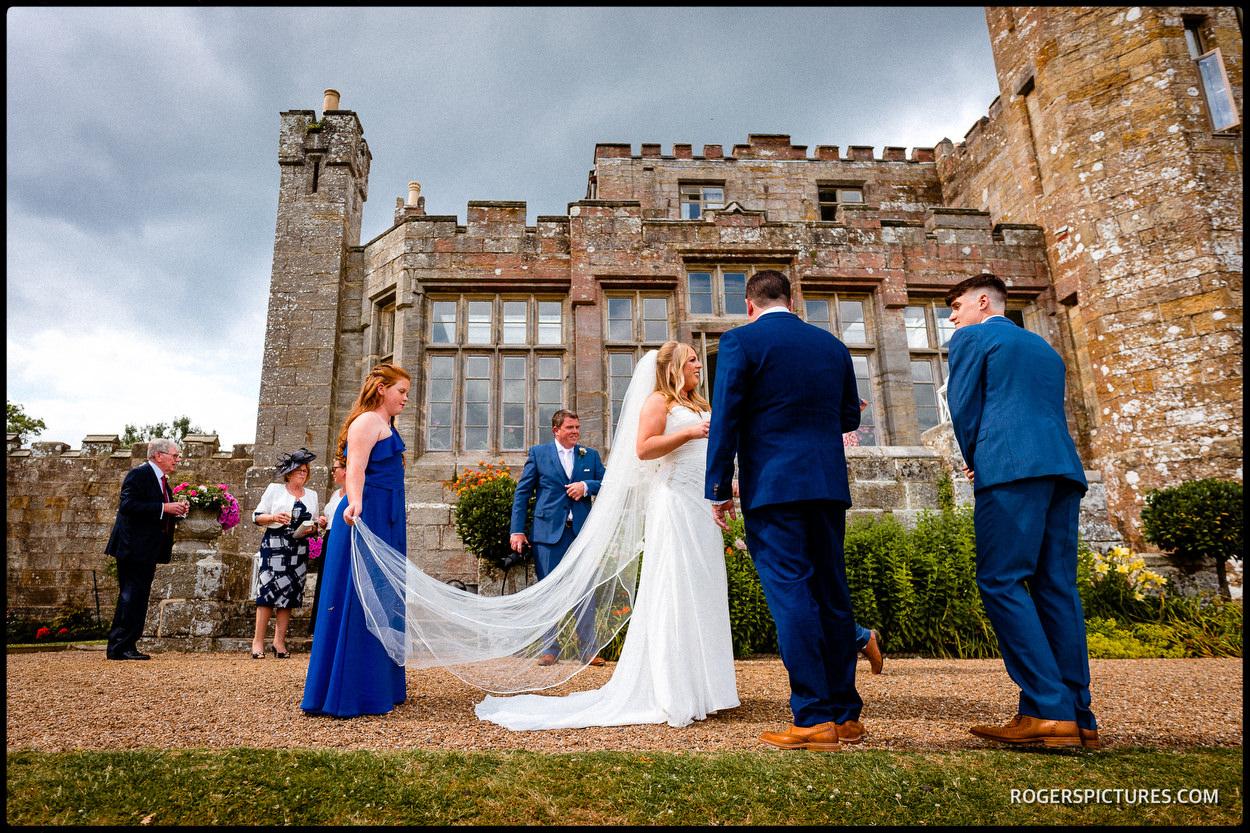 Castle wedding reception