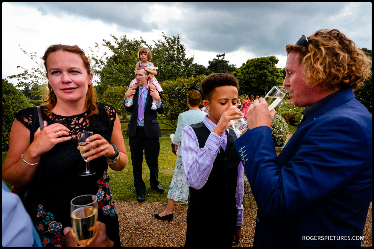 Layered wedding photo