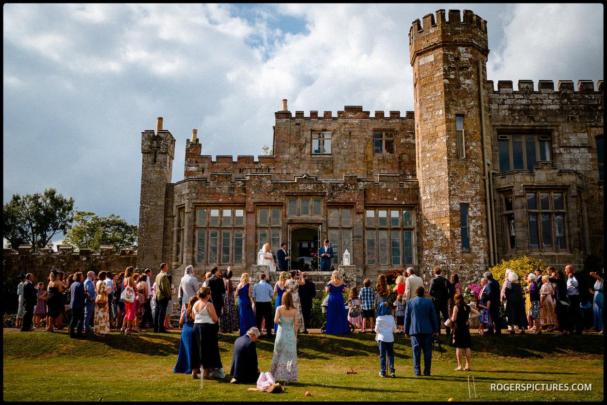 Speeches at Wadhurst Castle wedding