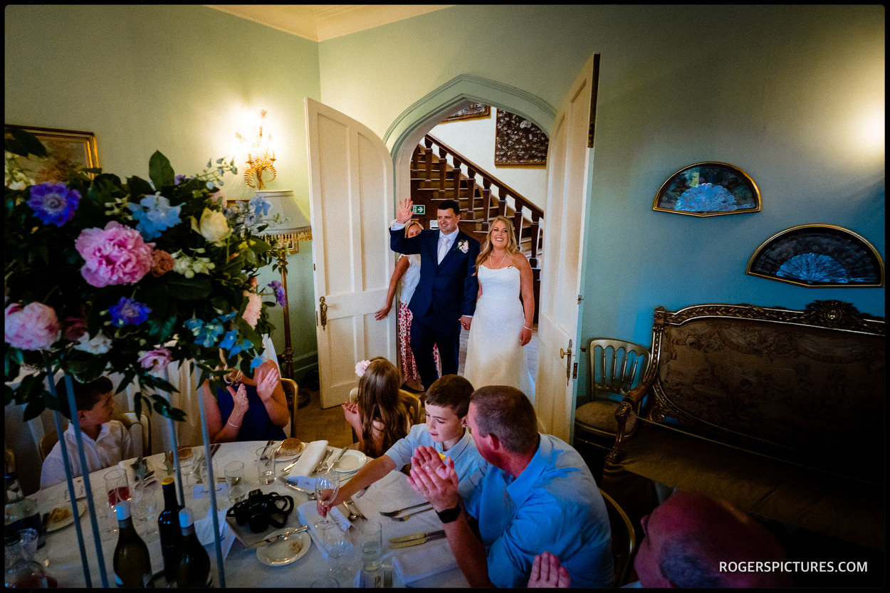 Entrance of the bride and groom to the wedding breakfast