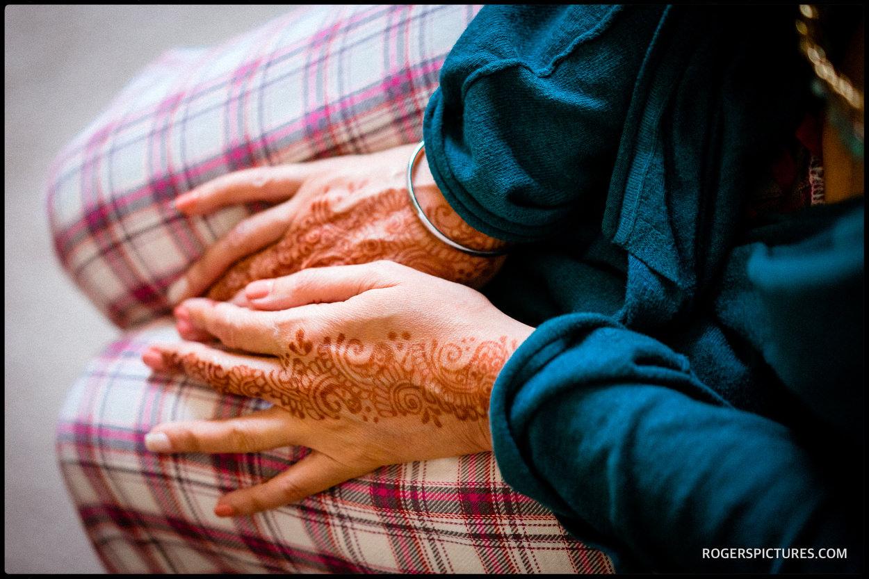 Henna bride preparations