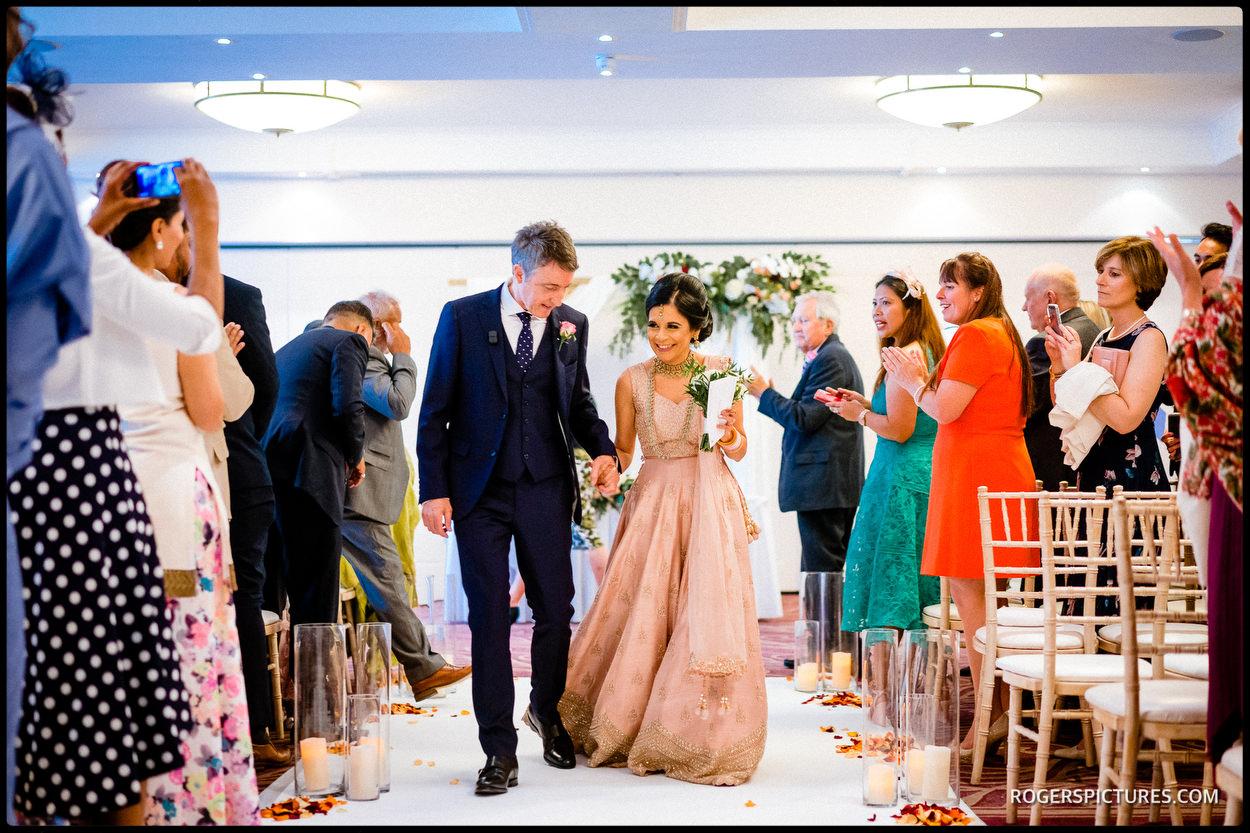Oatlands Park Hotel wedding ceremony