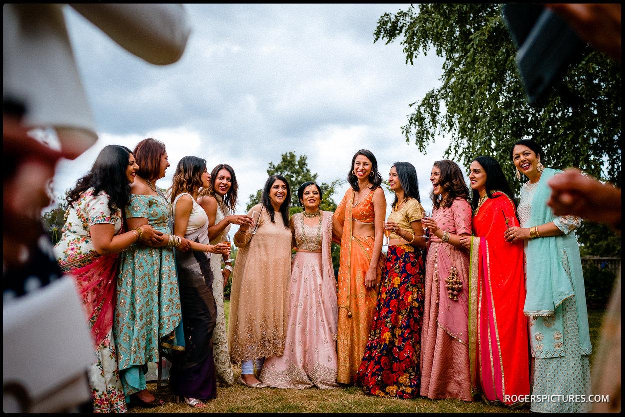 Indian wedding guests at Oatlands Park Hotel