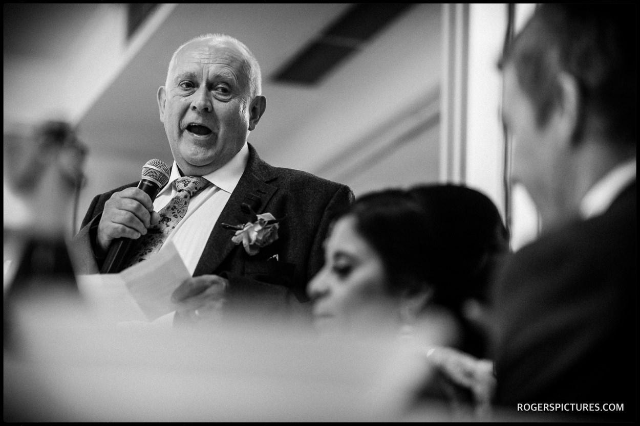 Best man speech at Oatlands Park Hotel