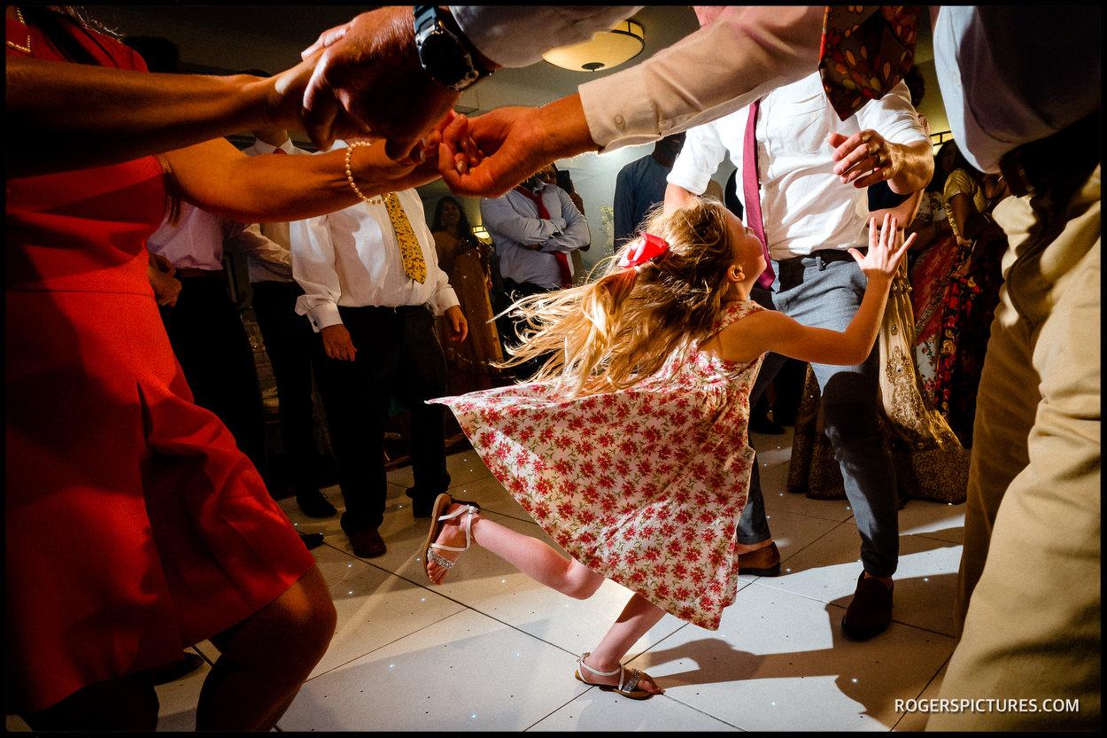 Oatlands Park Hotel dancing at a wedding