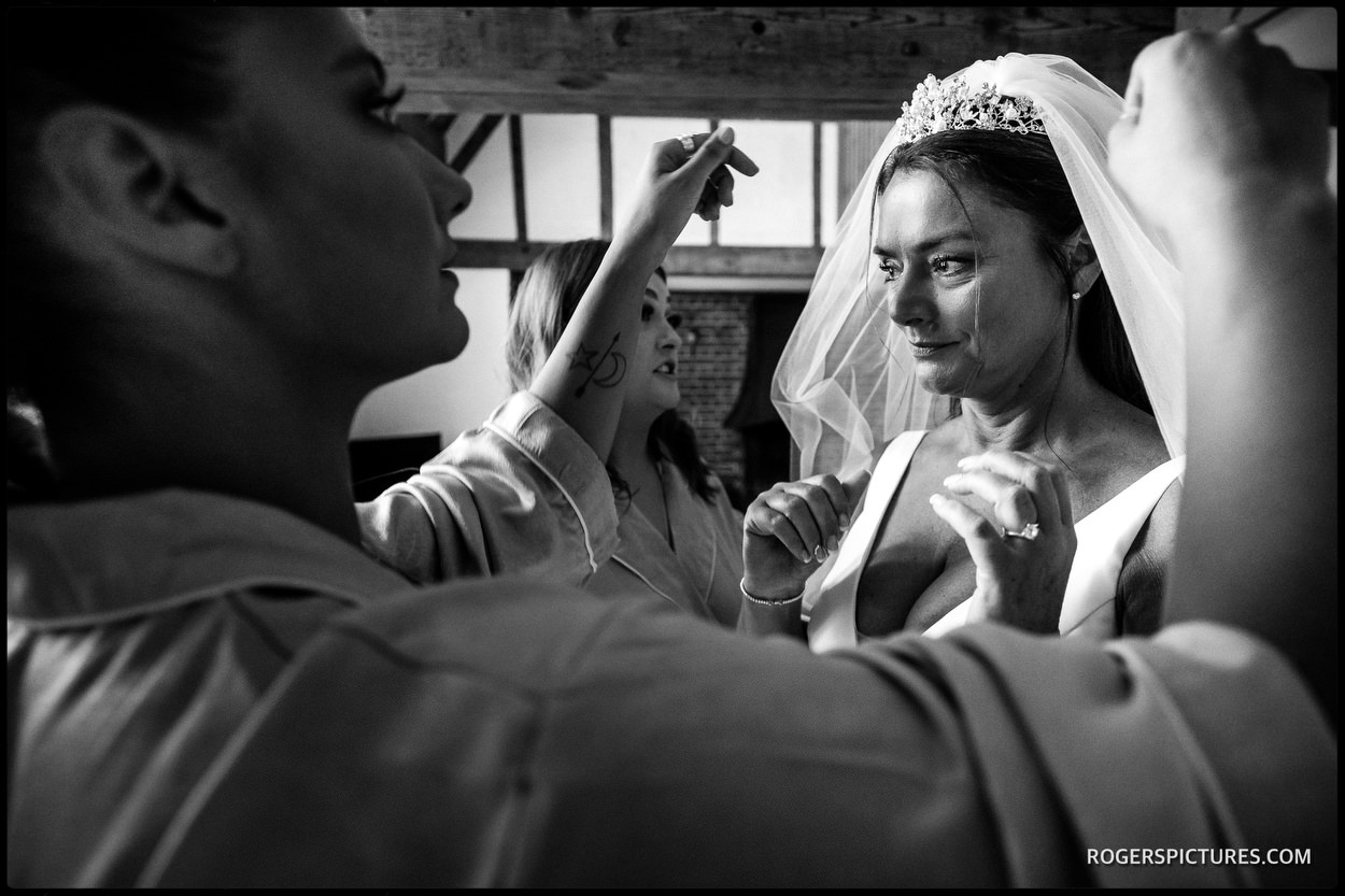 Brocket Hall bride photo during preparations