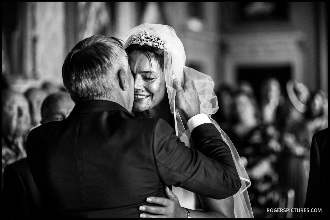 Reportage photo of a wedding at Brocket Hall