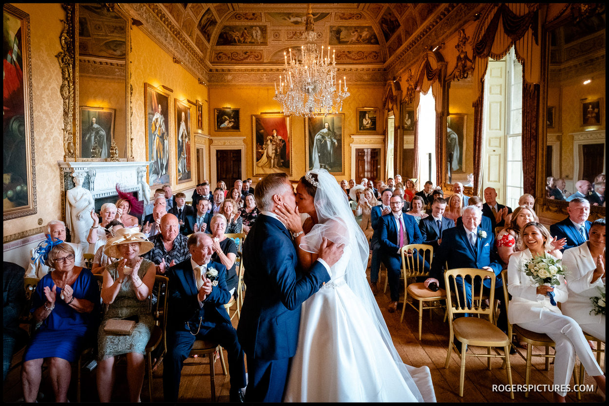Getting married in the Ballroom at Brocket Hall