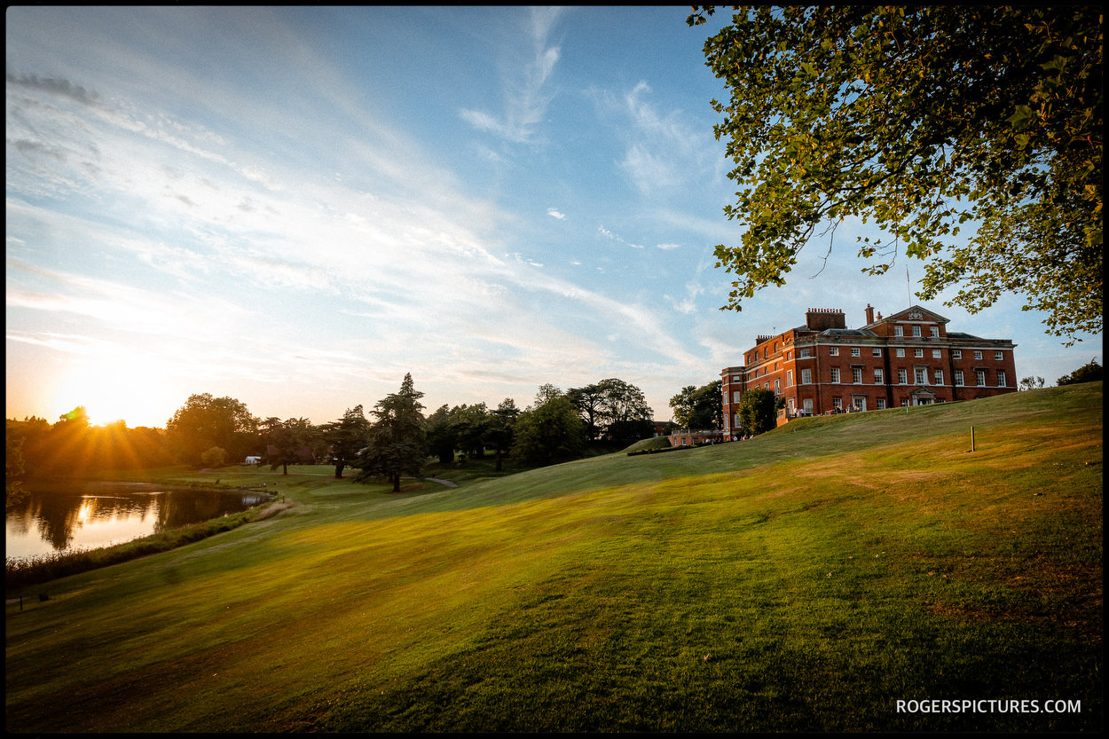 Brocket Hall in the evening sun