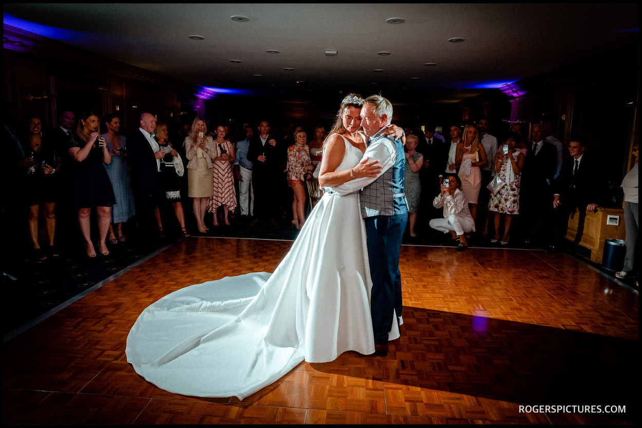 First dance at Brocket Hall wedding