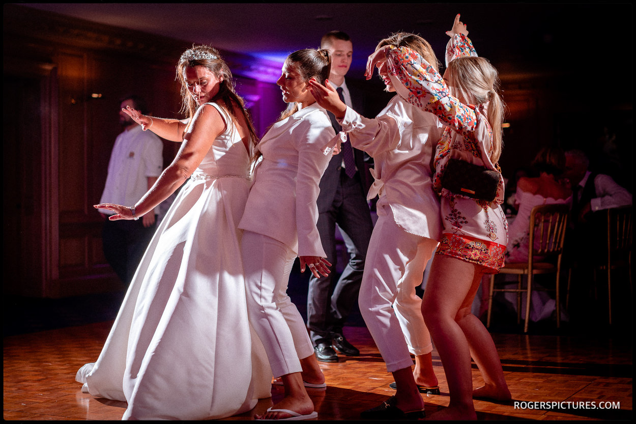 Dancing at a Brocket Hall wedding