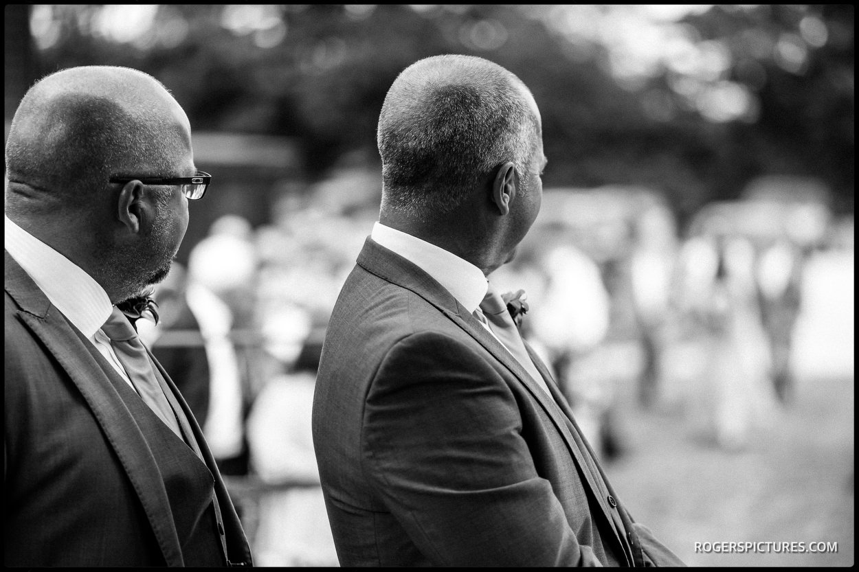 Groom and best man at St Mary's Church in Ticehurst