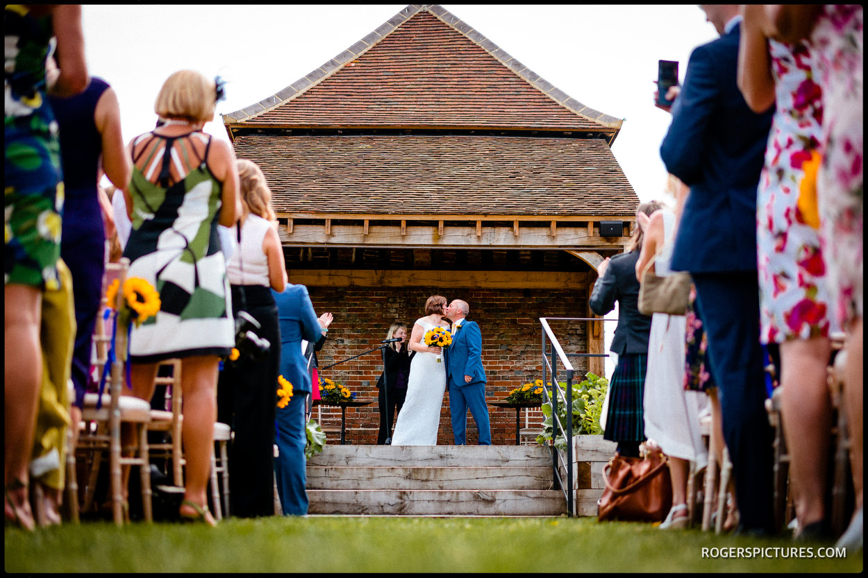 Outdoor barn wedding in Hitchin