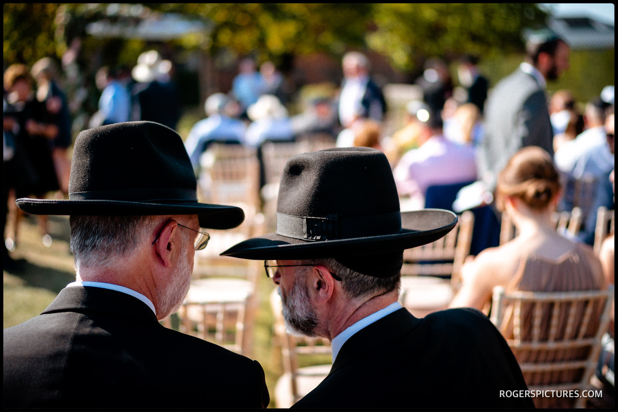 Guests at a Jewish wedding