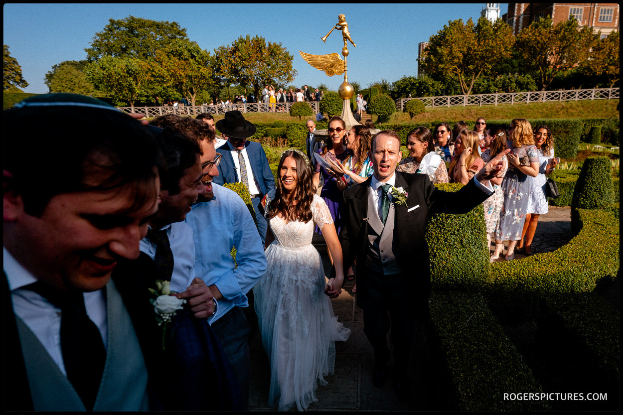 Documentary wedding photography at Hatfield House Jewish wedding