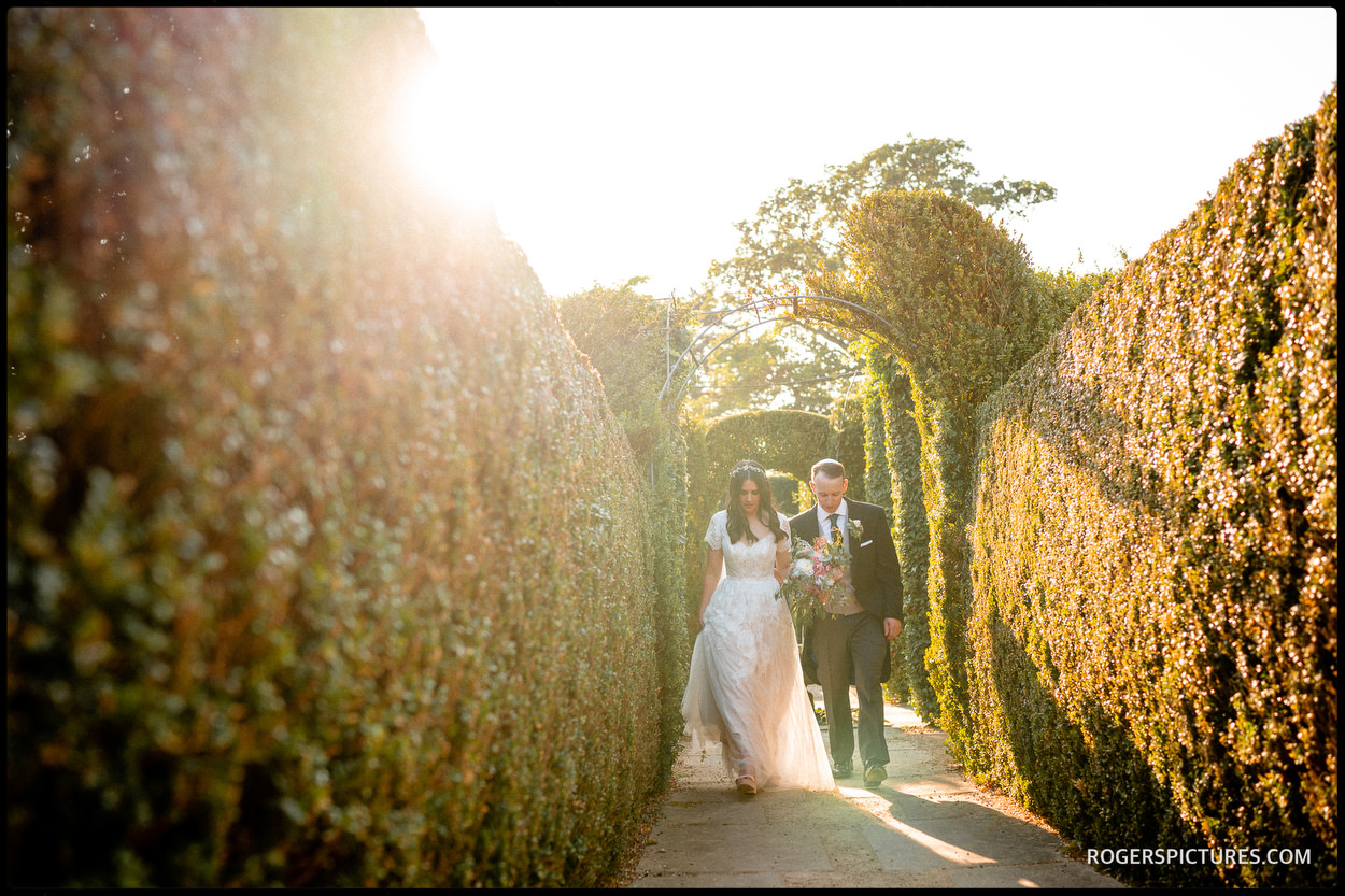 Golden hour portrait of a Bride and Groom