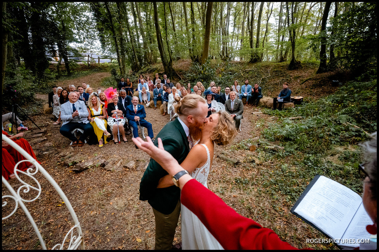 Wedding ceremony in a forest