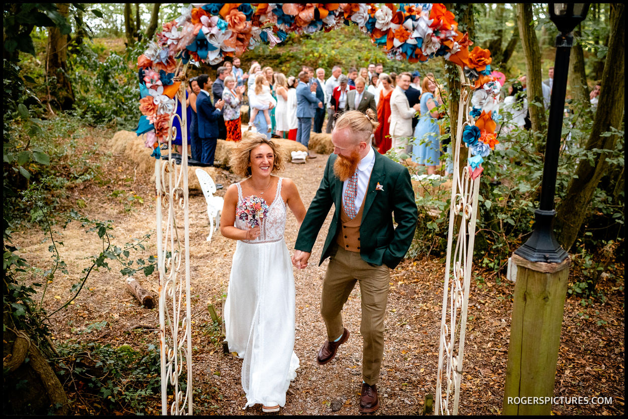 Married outdoors in East Sussex