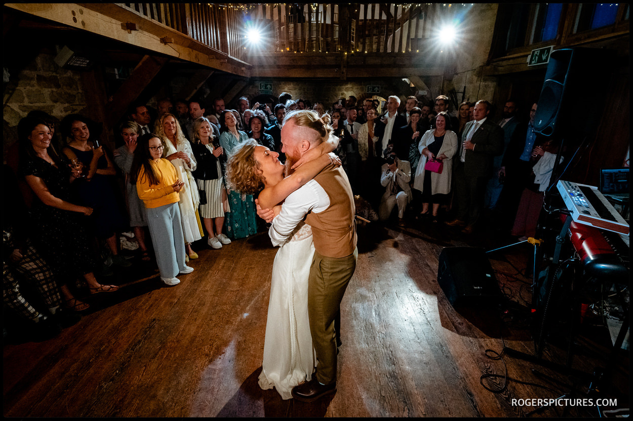 First Dance at Outdoor wedding at Swallows Oast
