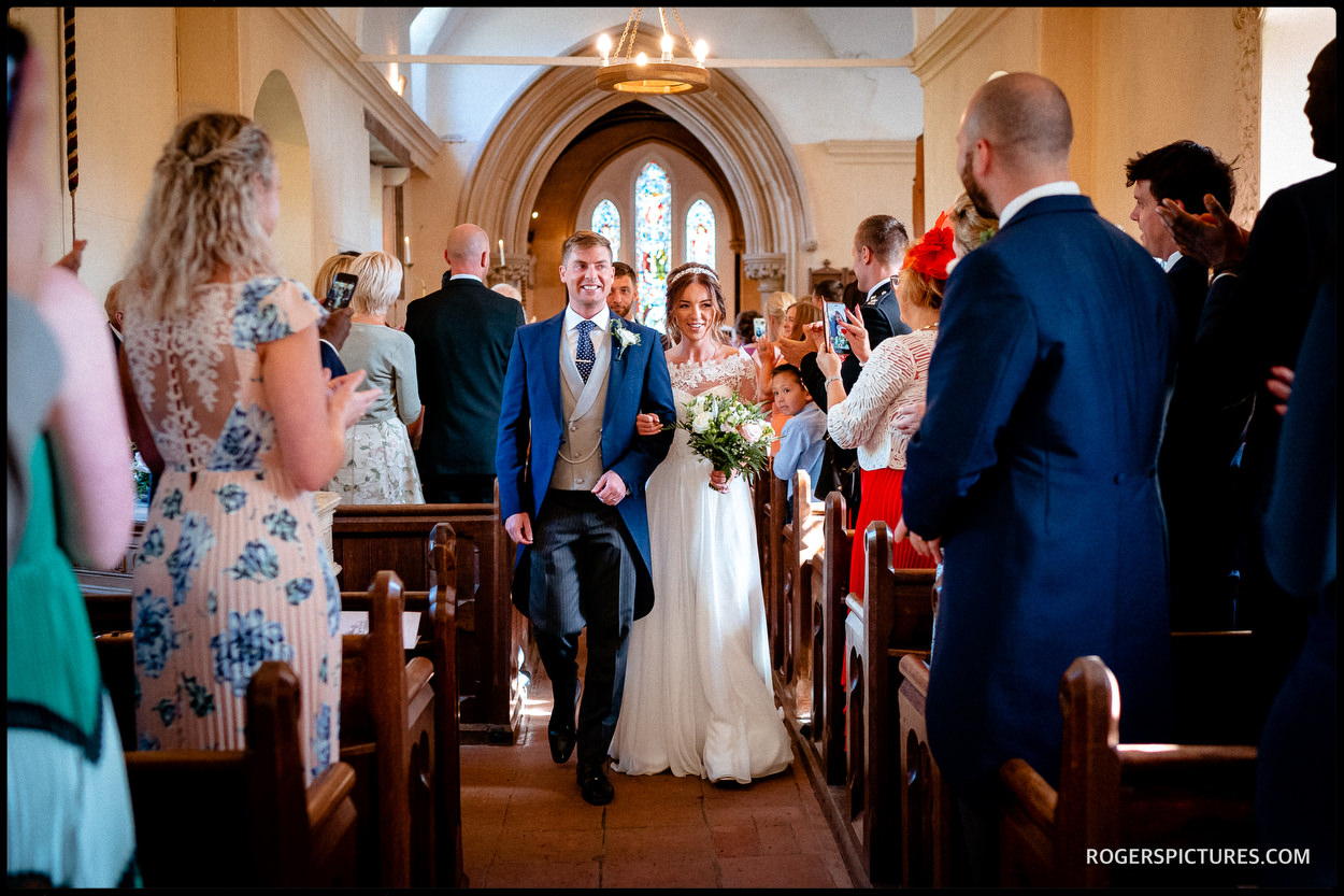 Wedding ceremony in the church at Wasing Park