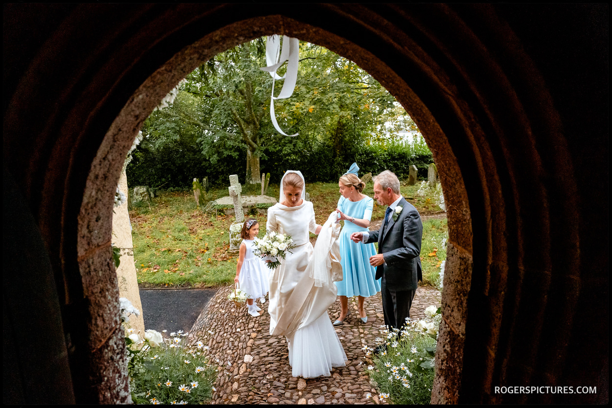 Devon country church wedding photo