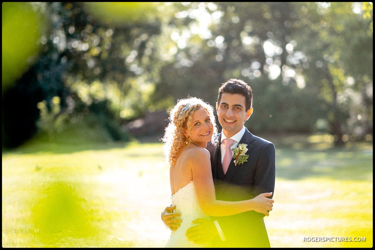 Couple portraits in the garden at Fulham Palace