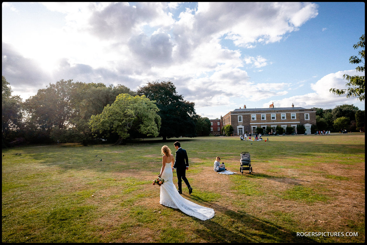 Fulham Palace wedding portraits